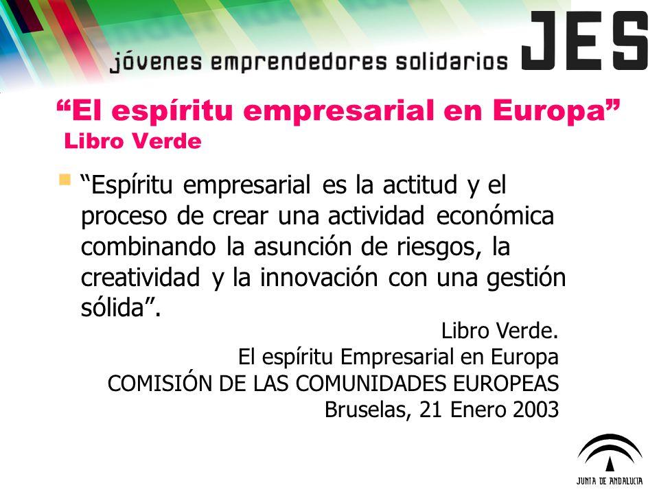 El espíritu empresarial en Europa Libro Verde