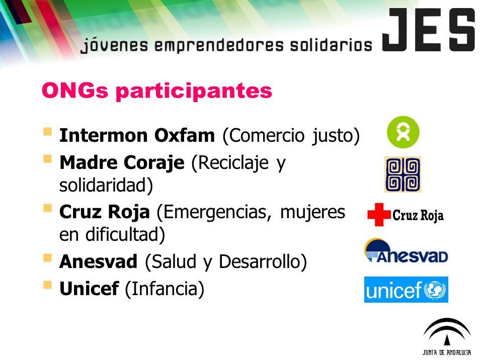 ONGs participantes Intermon Oxfam (Comercio justo)