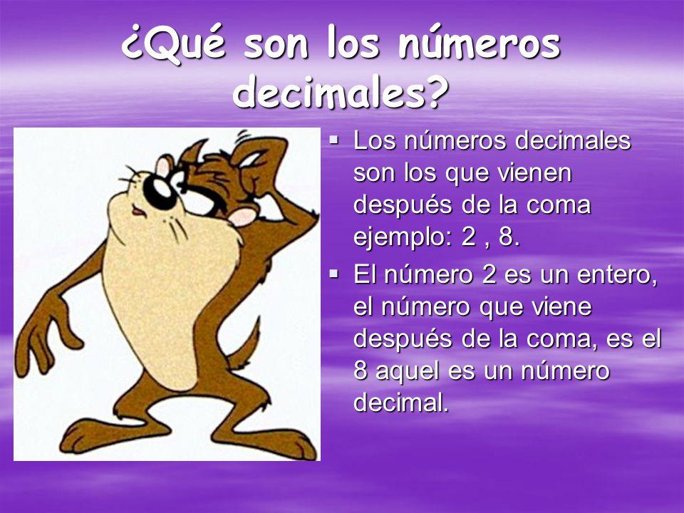 ¿Qué son los números decimales