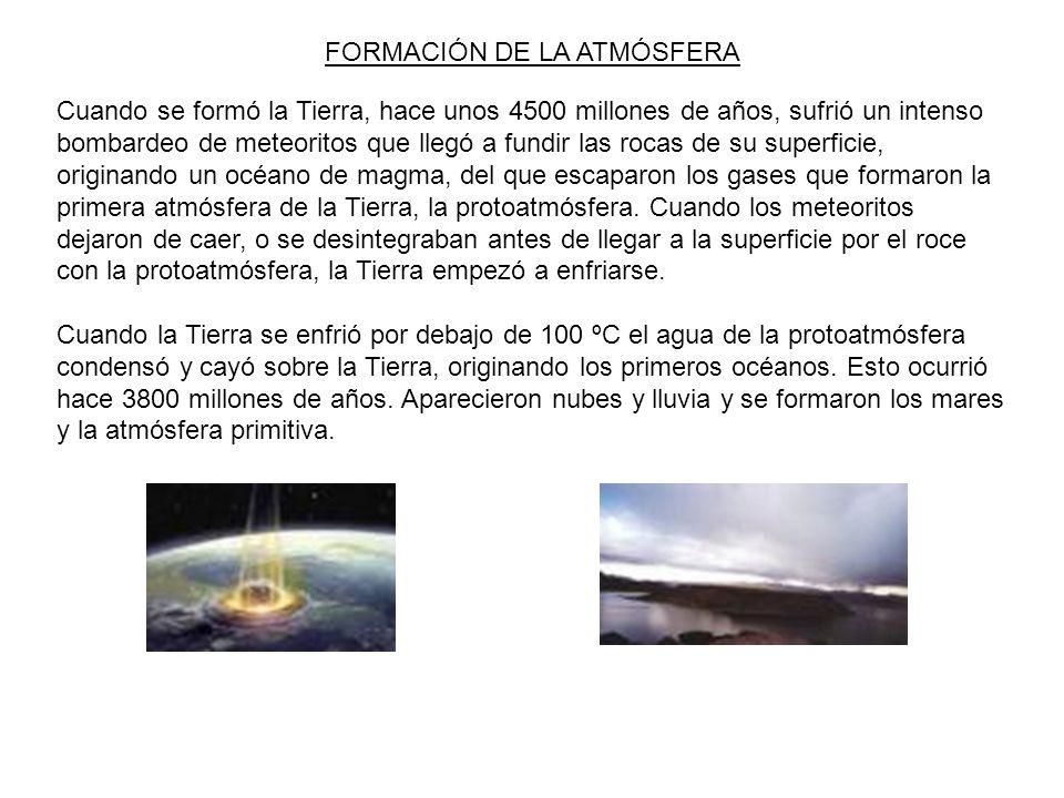 FORMACIÓN DE LA ATMÓSFERA