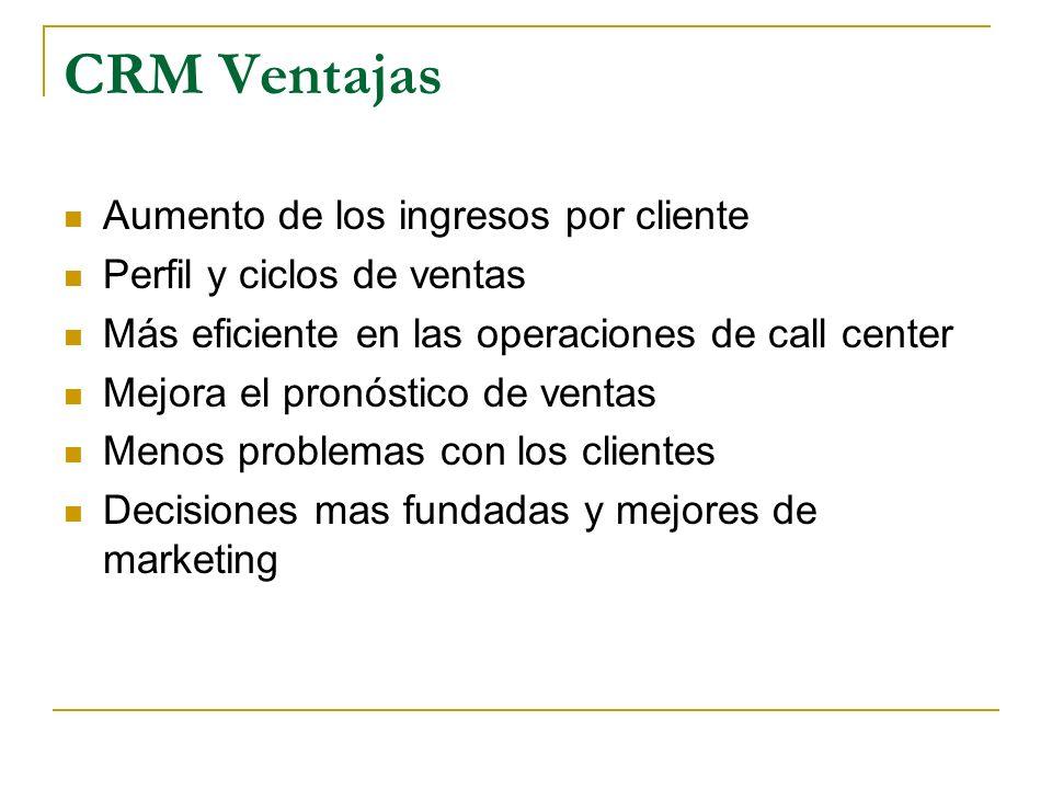 CRM Ventajas Aumento de los ingresos por cliente