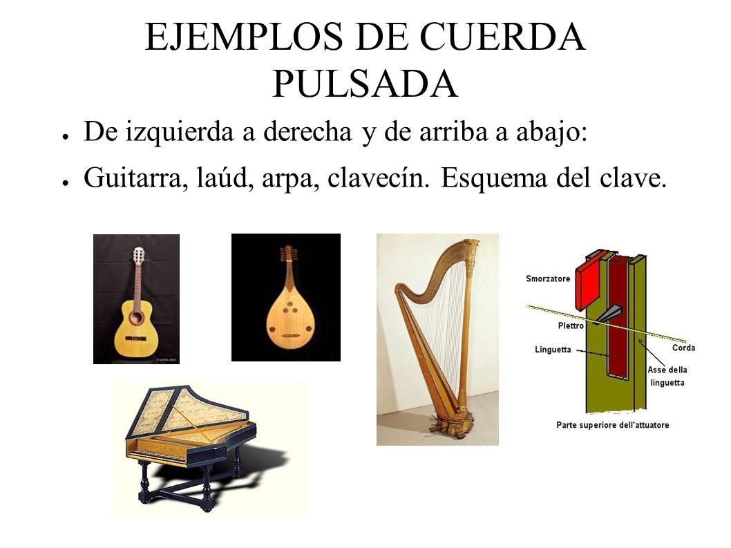 EJEMPLOS DE CUERDA PULSADA