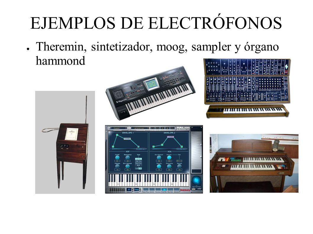 EJEMPLOS DE ELECTRÓFONOS