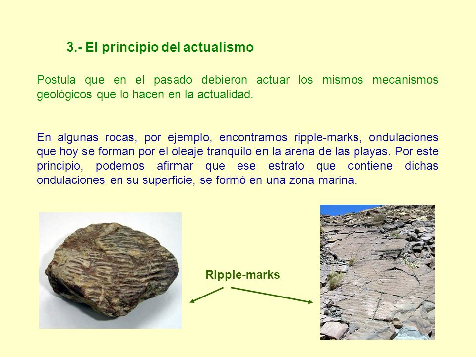 3.- El principio del actualismo