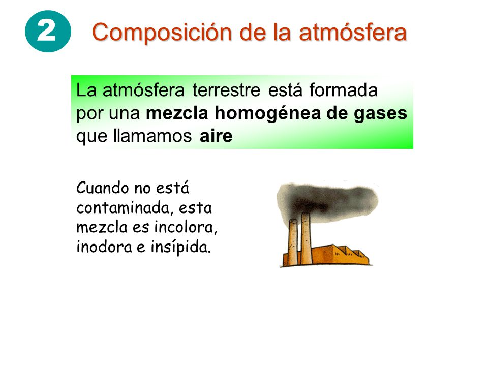2 Composición de la atmósfera