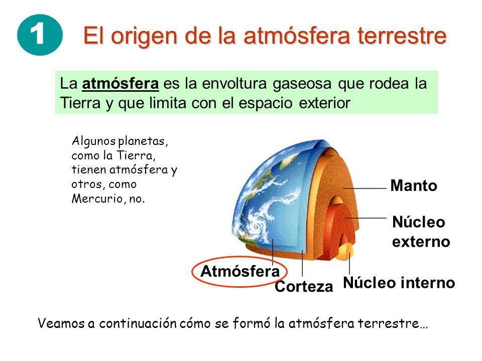1 El origen de la atmósfera terrestre