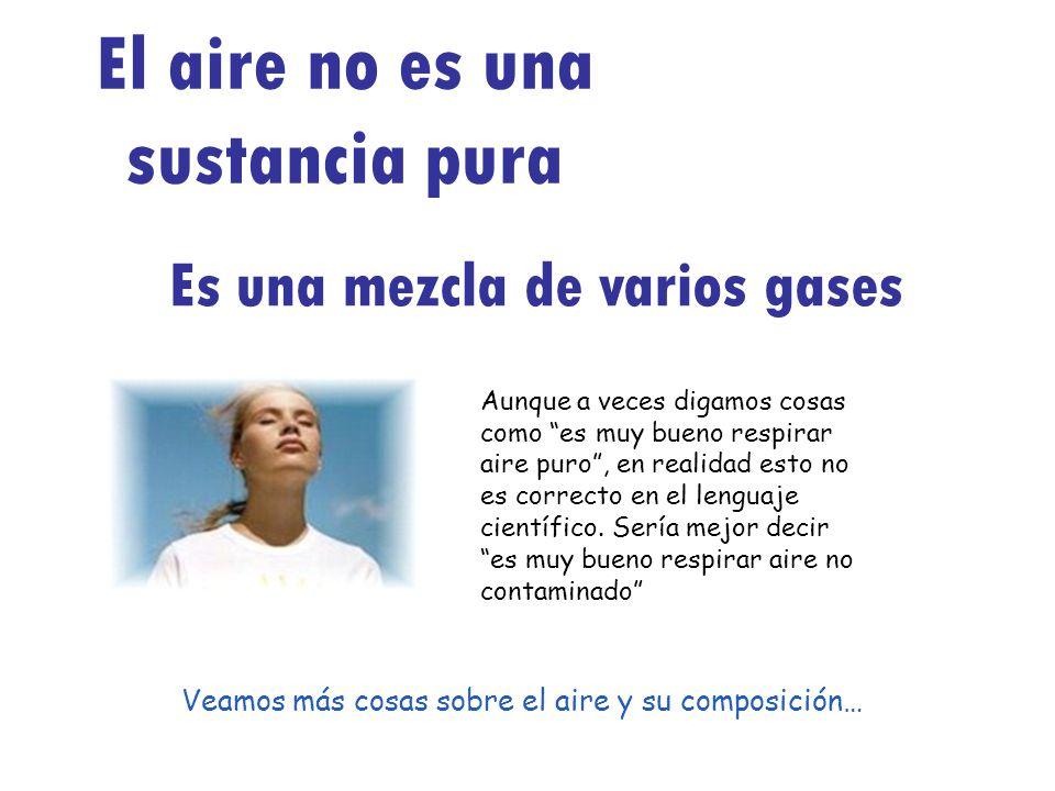 El aire no es una sustancia pura