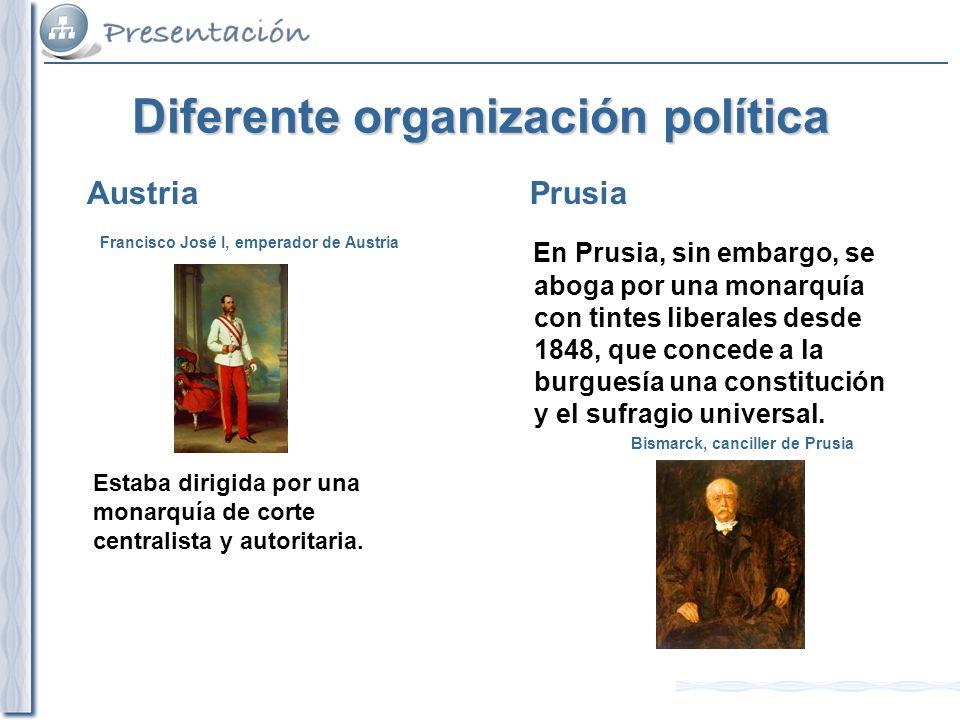 Diferente organización política