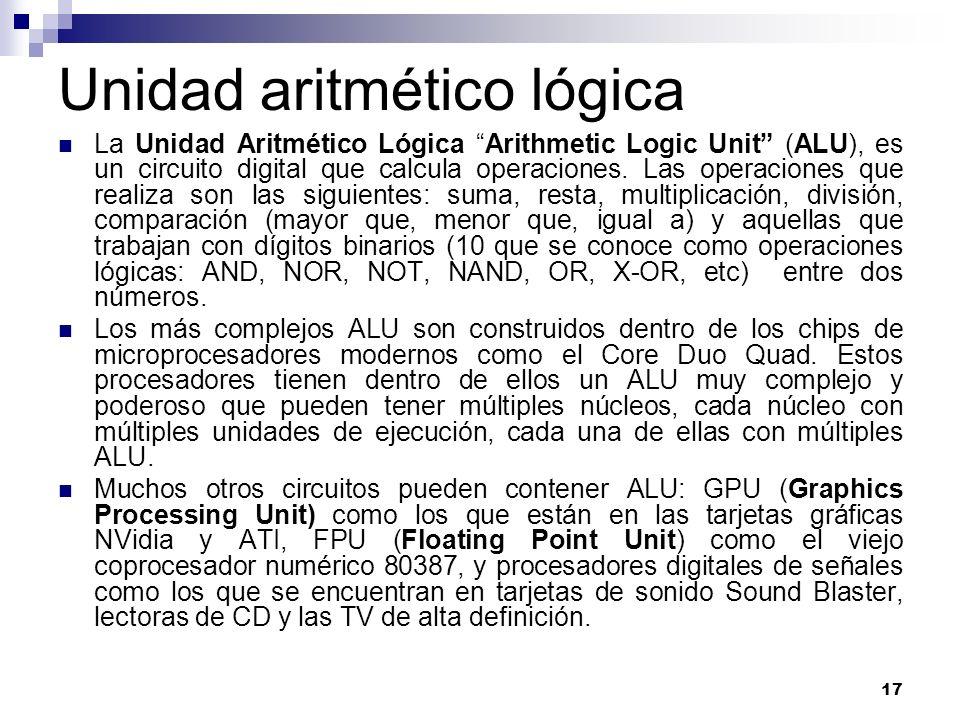 Unidad aritmético lógica