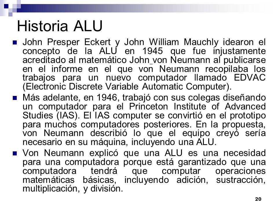 Historia ALU