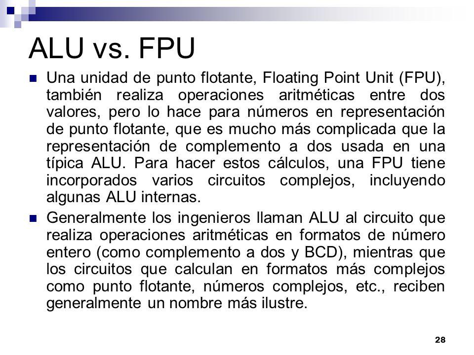 ALU vs. FPU