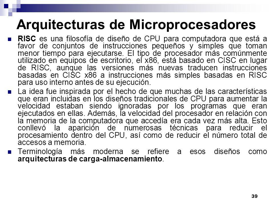 Arquitecturas de Microprocesadores