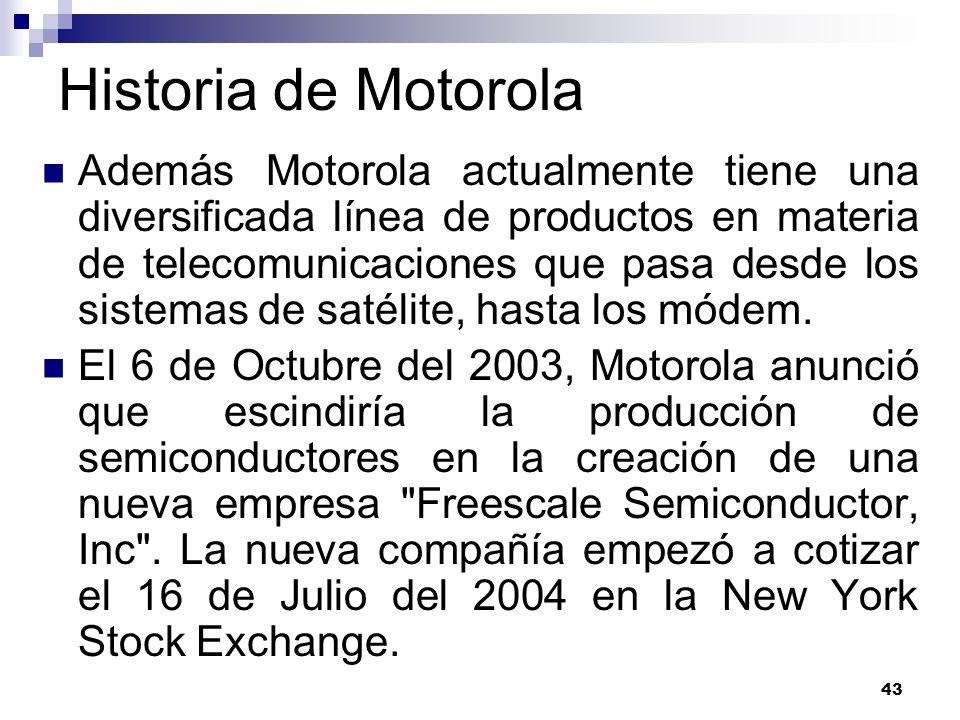 Historia de Motorola