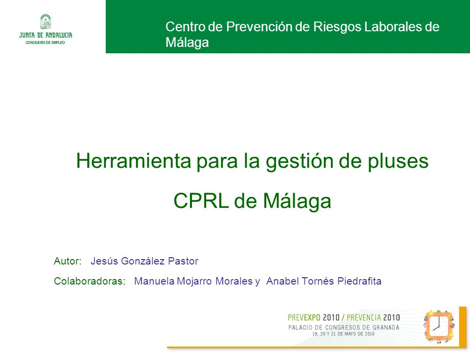 Herramienta para la gestión de pluses CPRL de Málaga