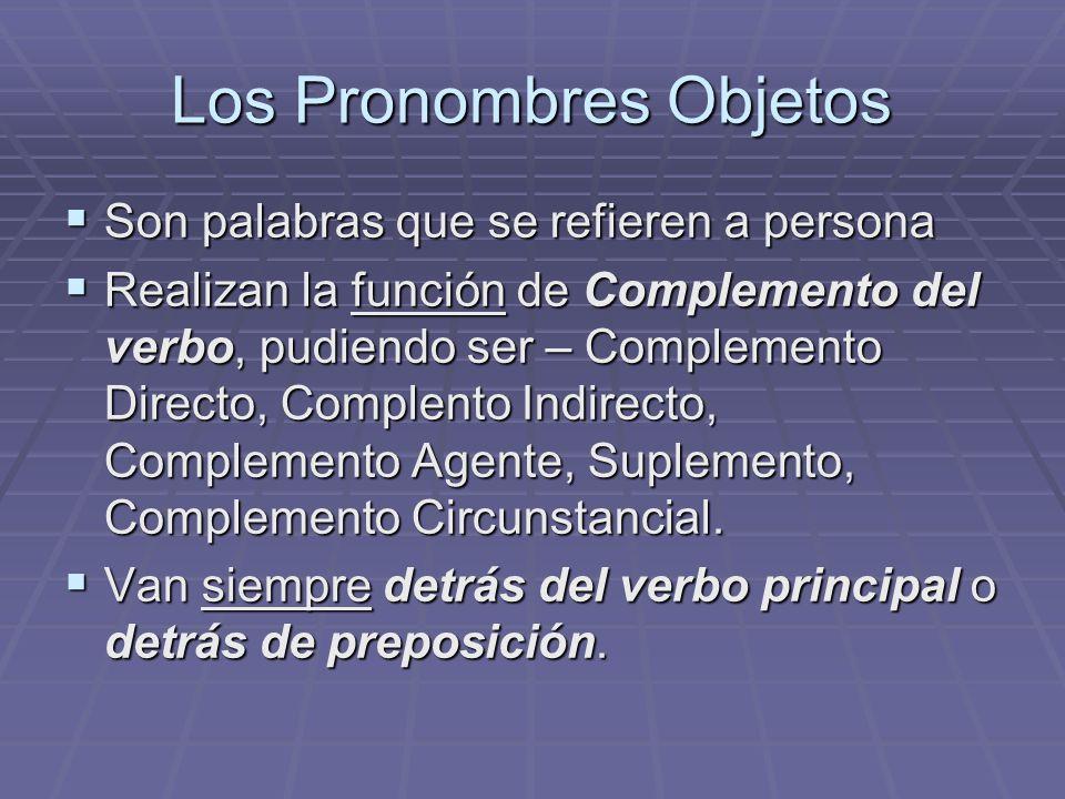 Los Pronombres Objetos