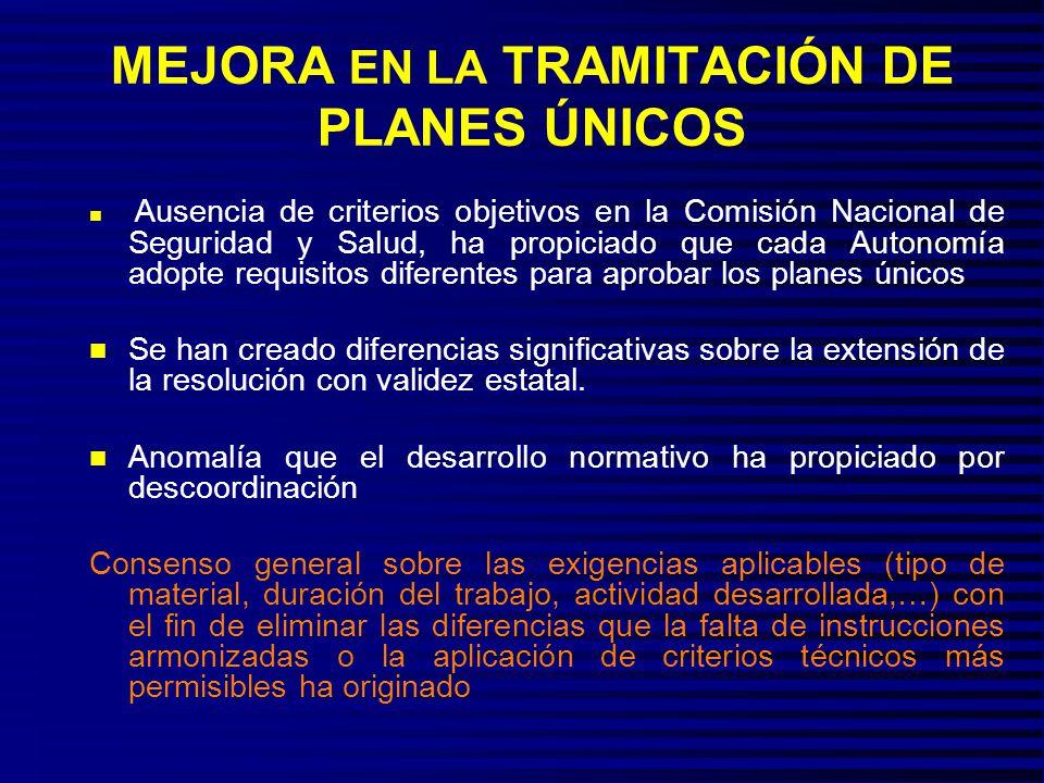 MEJORA EN LA TRAMITACIÓN DE PLANES ÚNICOS