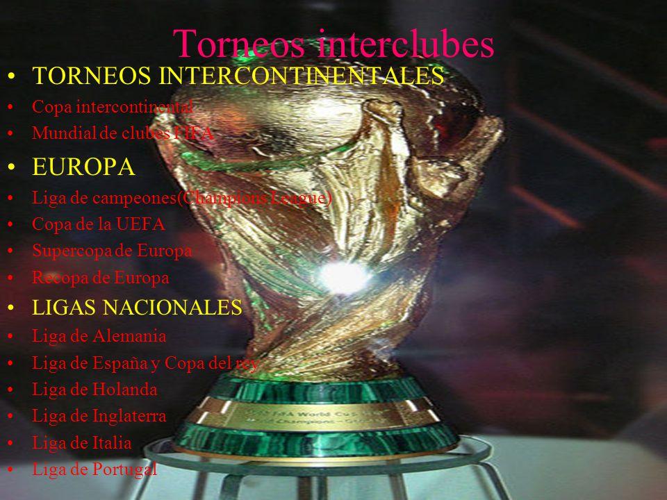 Torneos interclubes TORNEOS INTERCONTINENTALES EUROPA LIGAS NACIONALES
