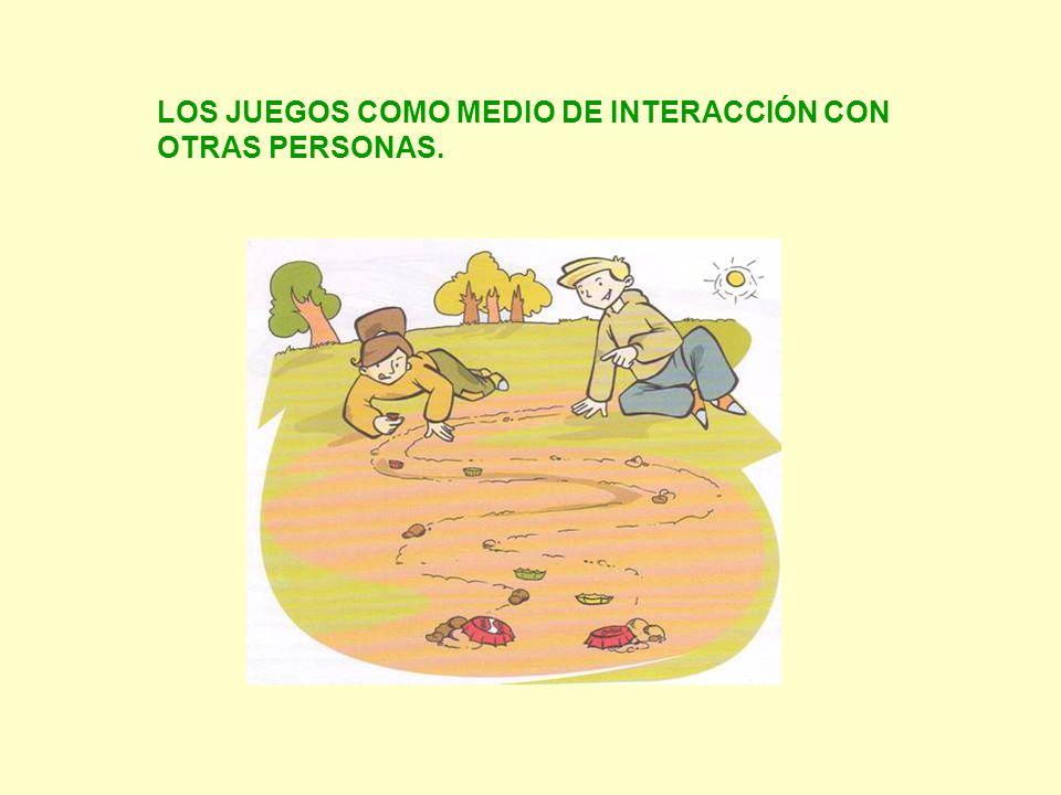 LOS JUEGOS COMO MEDIO DE INTERACCIÓN CON OTRAS PERSONAS.