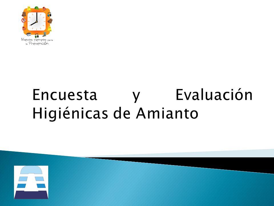 Encuesta y Evaluación Higiénicas de Amianto