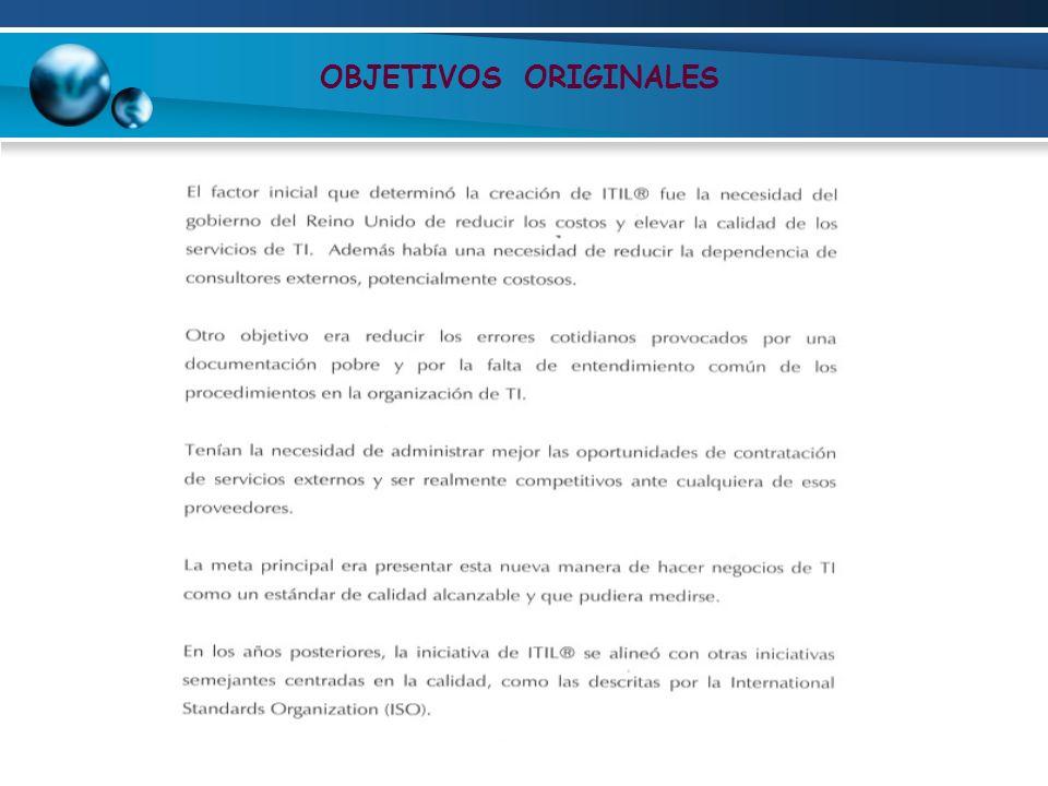 OBJETIVOS ORIGINALES