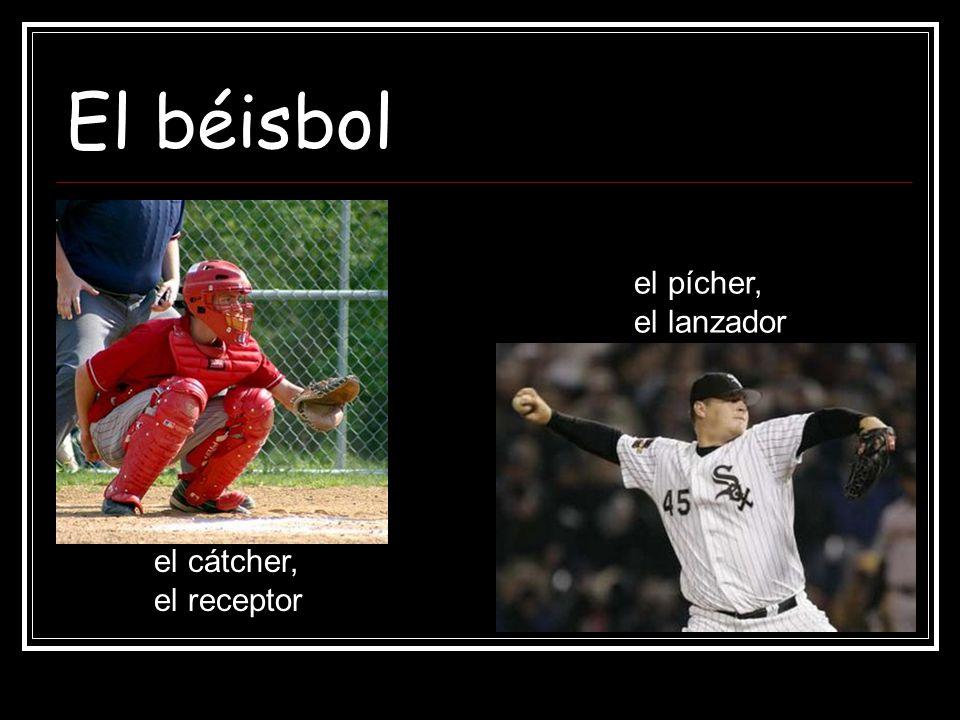 El béisbol el pícher, el lanzador el cátcher, el receptor