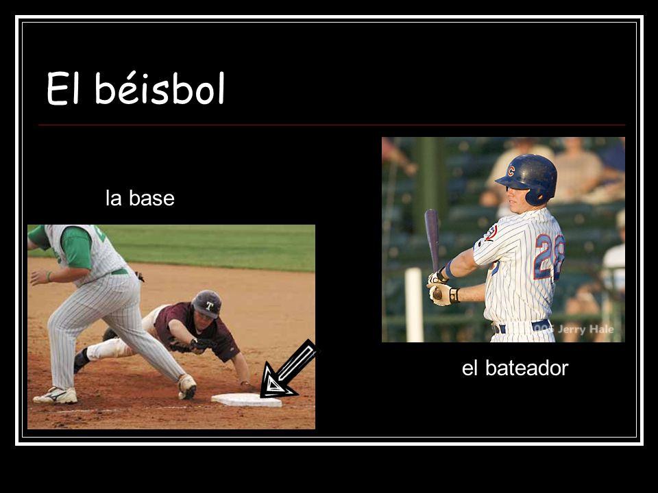 El béisbol la base el bateador