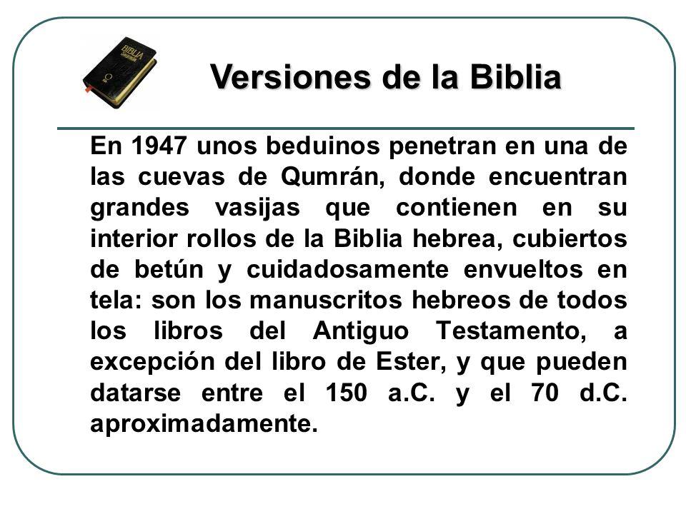 Versiones de la Biblia