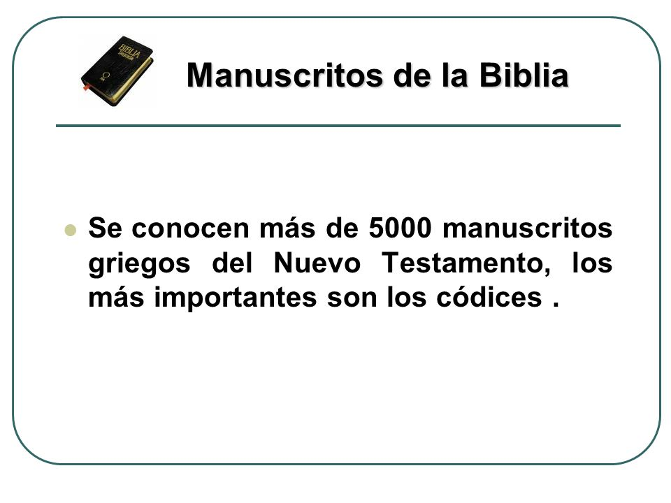 Manuscritos de la Biblia
