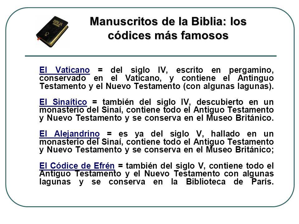 Manuscritos de la Biblia: los códices más famosos