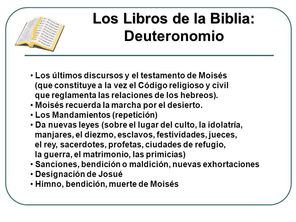 Los Libros de la Biblia: Deuteronomio