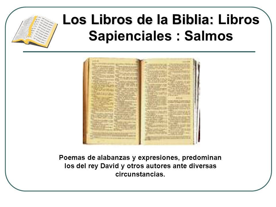 Los Libros de la Biblia: Libros Sapienciales : Salmos