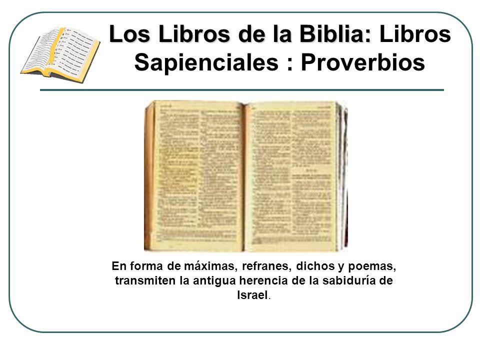 Los Libros de la Biblia: Libros Sapienciales : Proverbios