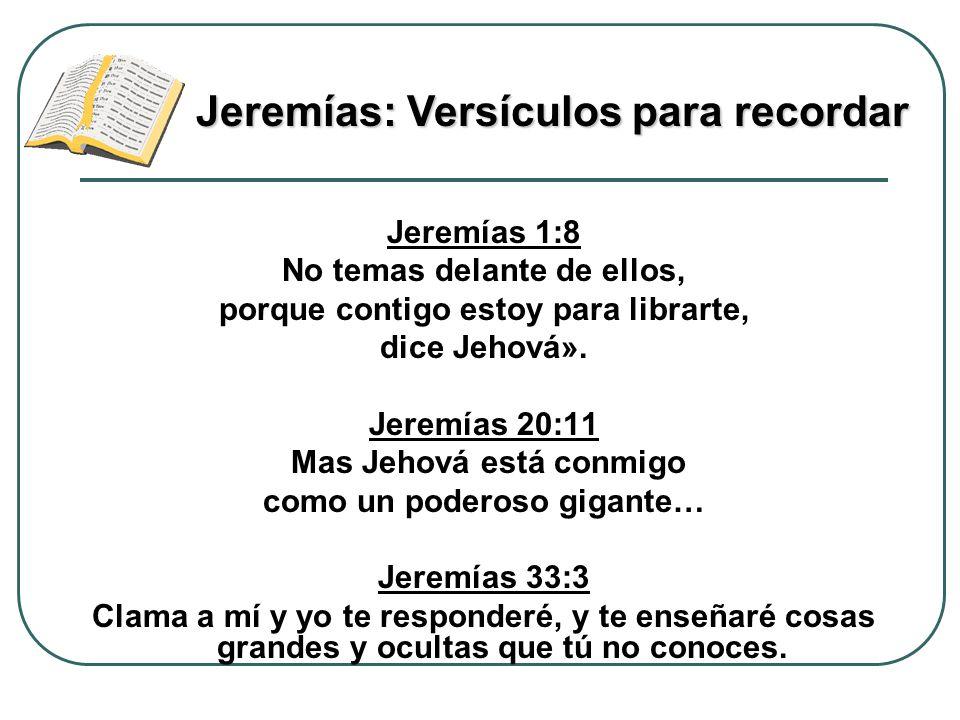 Jeremías: Versículos para recordar