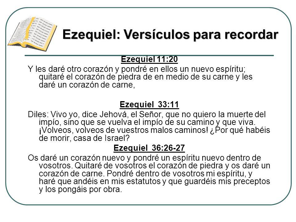 Ezequiel: Versículos para recordar