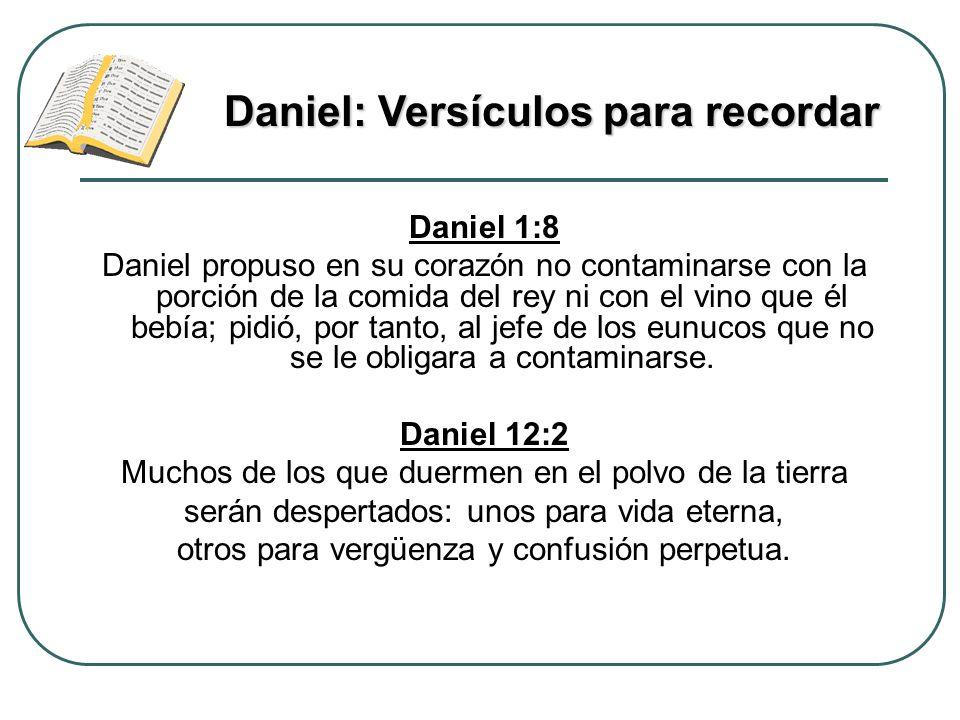 Daniel: Versículos para recordar