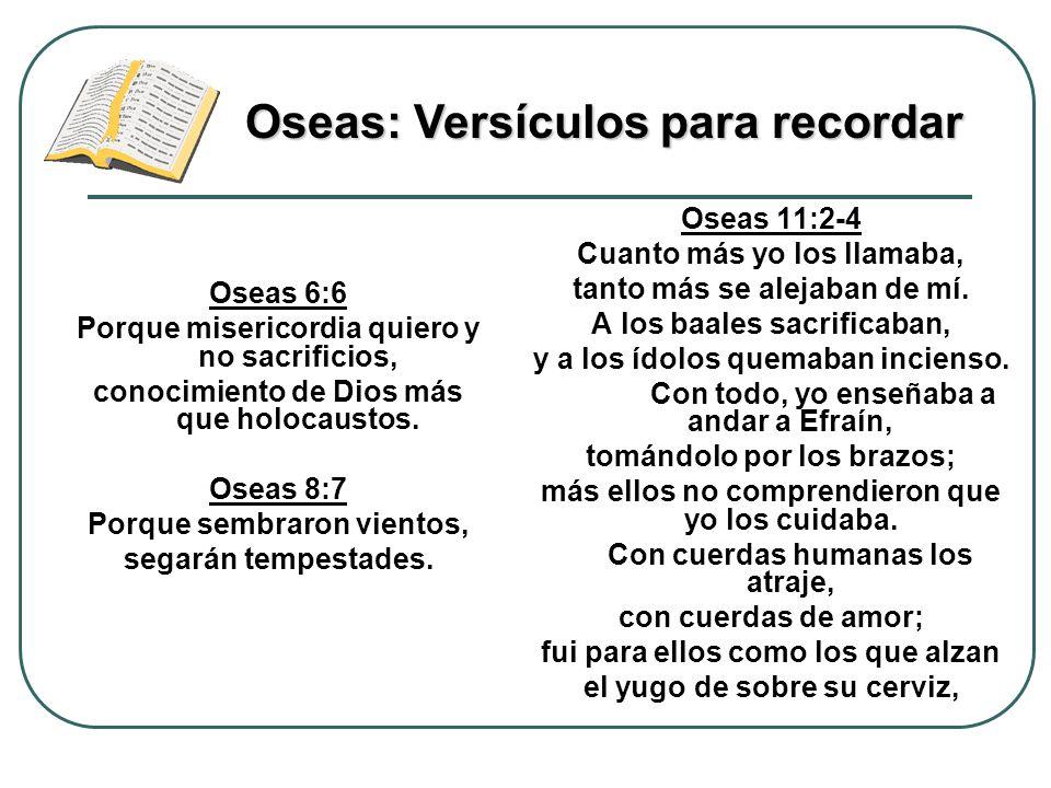 Oseas: Versículos para recordar