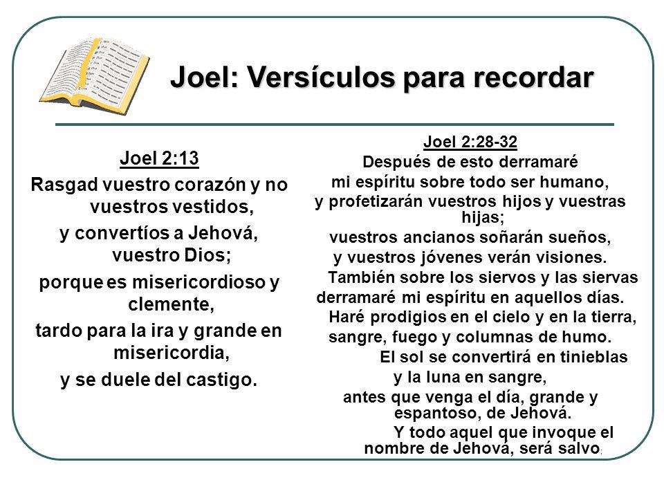 Joel: Versículos para recordar
