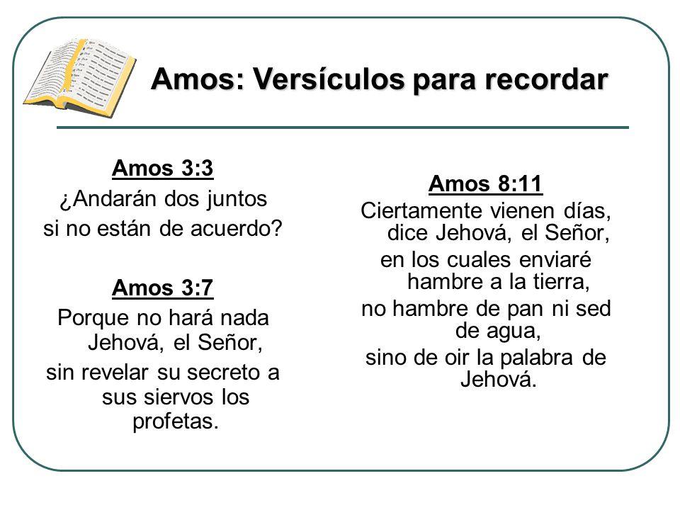 Amos: Versículos para recordar