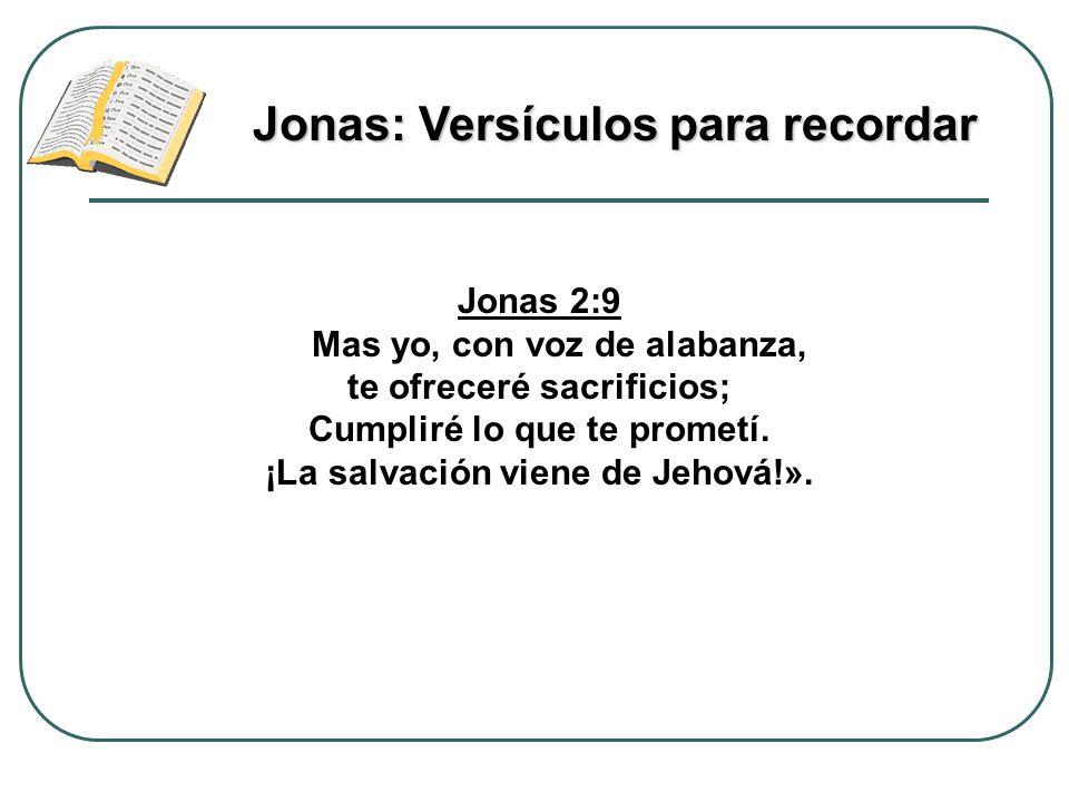 Jonas: Versículos para recordar