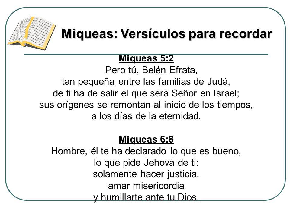 Miqueas: Versículos para recordar