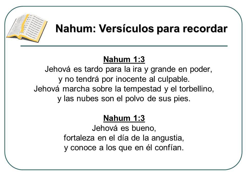 Nahum: Versículos para recordar