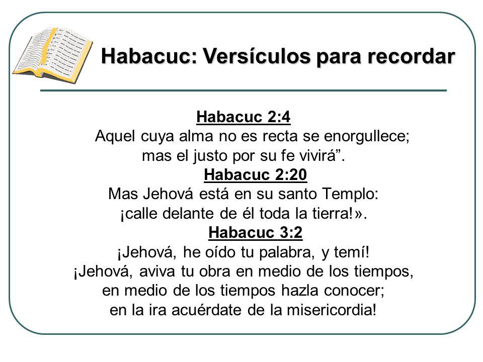 Habacuc: Versículos para recordar