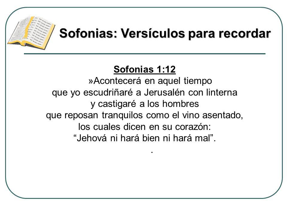 Sofonias: Versículos para recordar