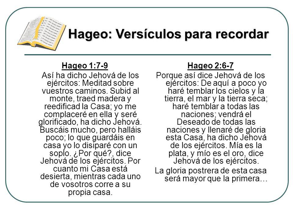 Hageo: Versículos para recordar
