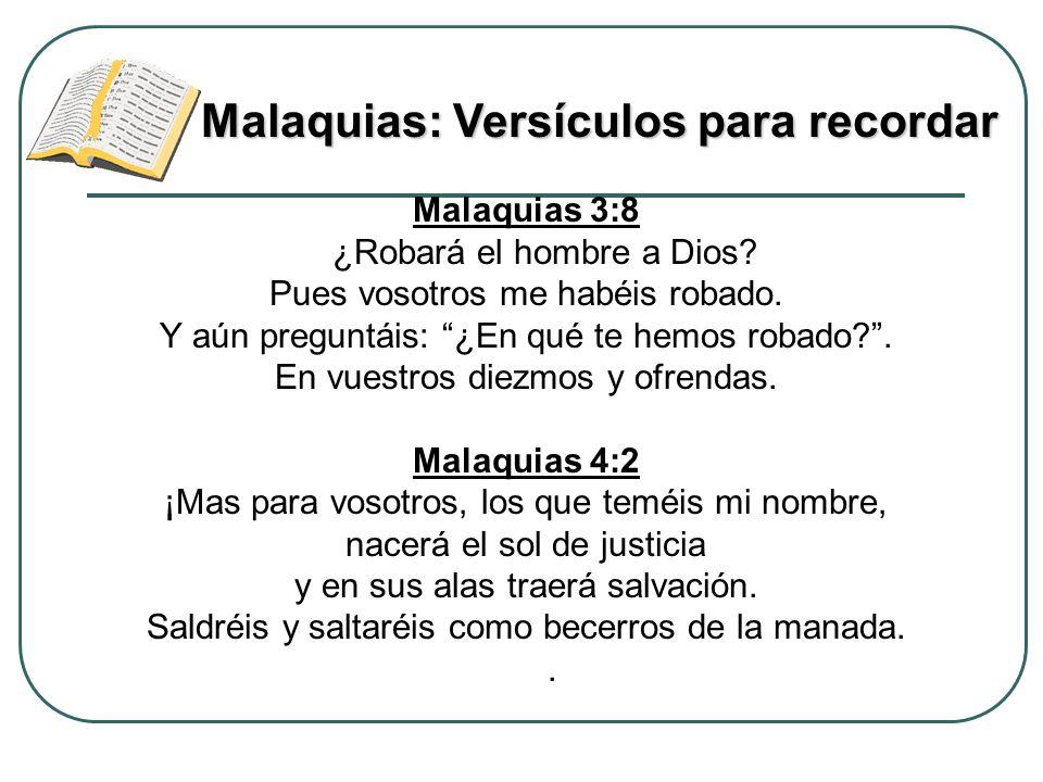 Malaquias: Versículos para recordar