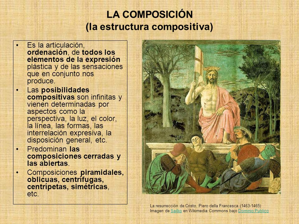 LA COMPOSICIÓN (la estructura compositiva)