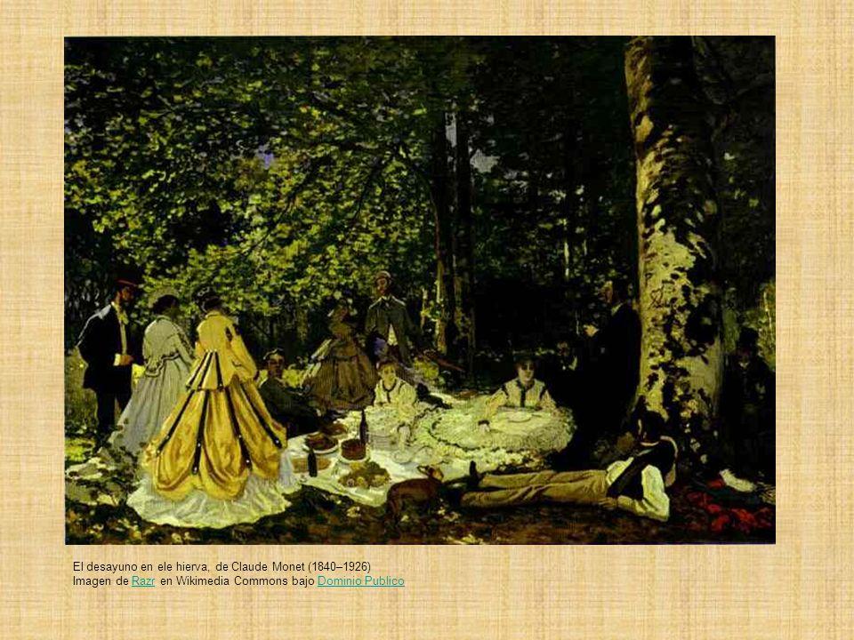El desayuno en ele hierva, de Claude Monet (1840–1926) Imagen de Razr en Wikimedia Commons bajo Dominio Publico