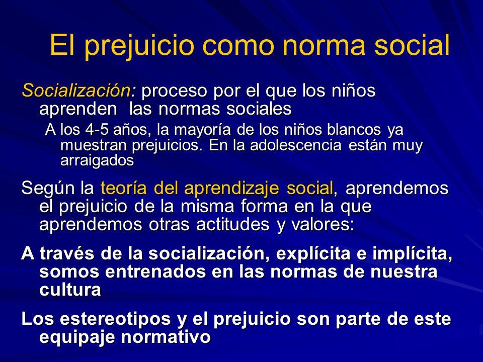 El prejuicio como norma social