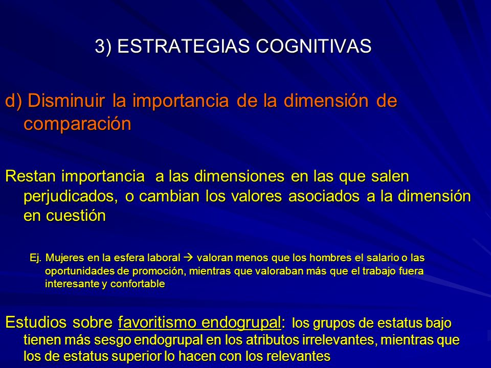 3) ESTRATEGIAS COGNITIVAS