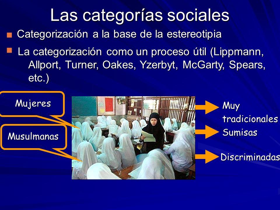 Las categorías sociales